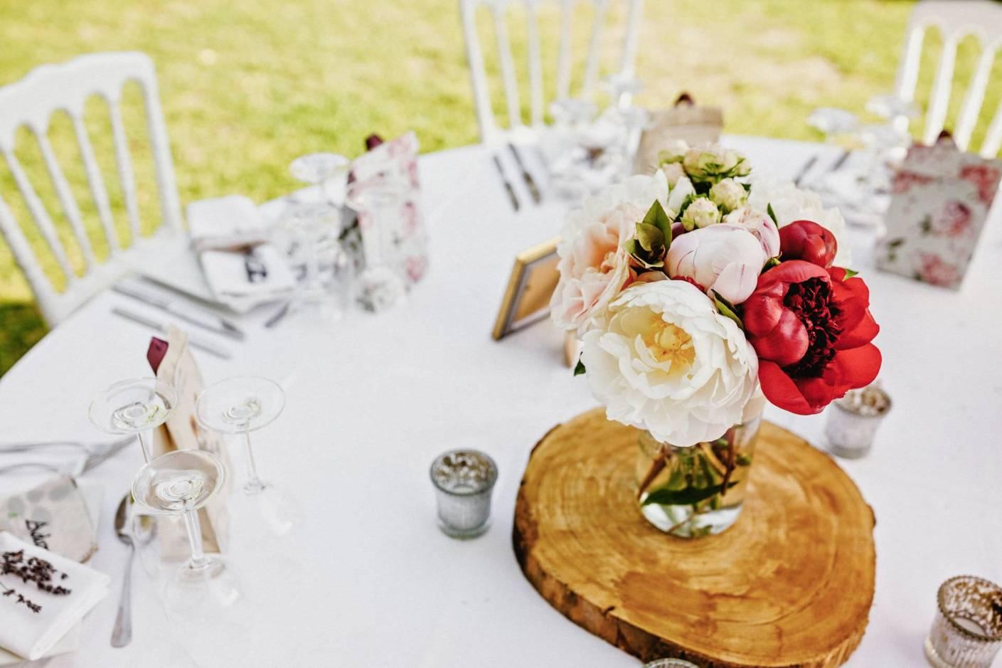 floral boquet table decorations