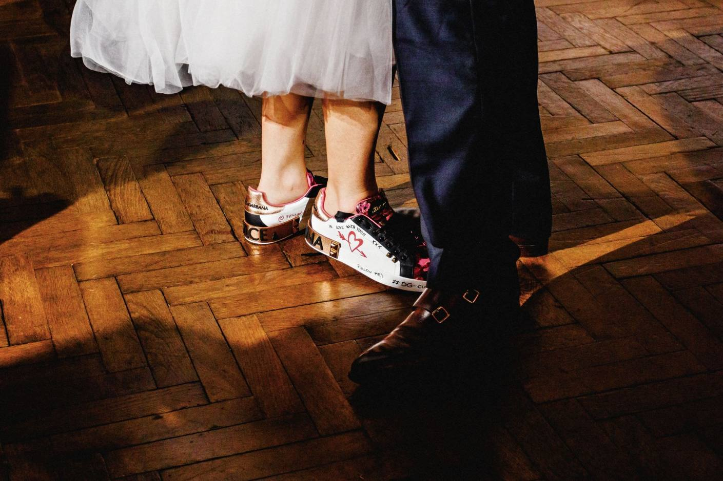 photo of personalised bridal shoes