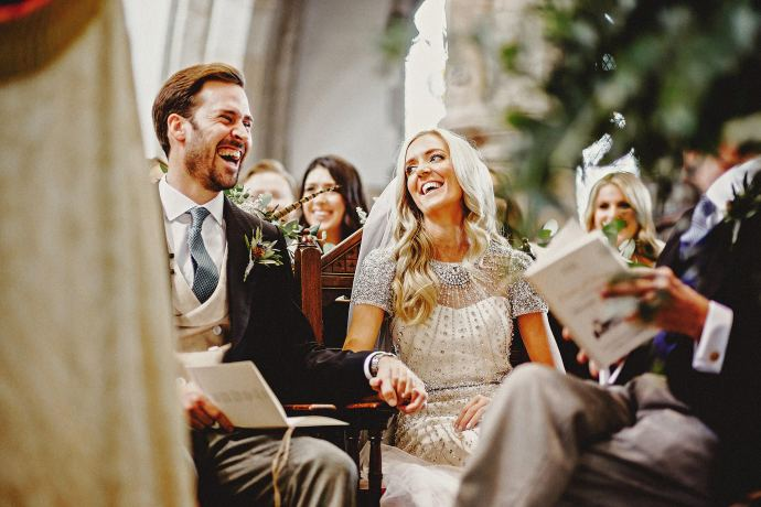 during the church wedding