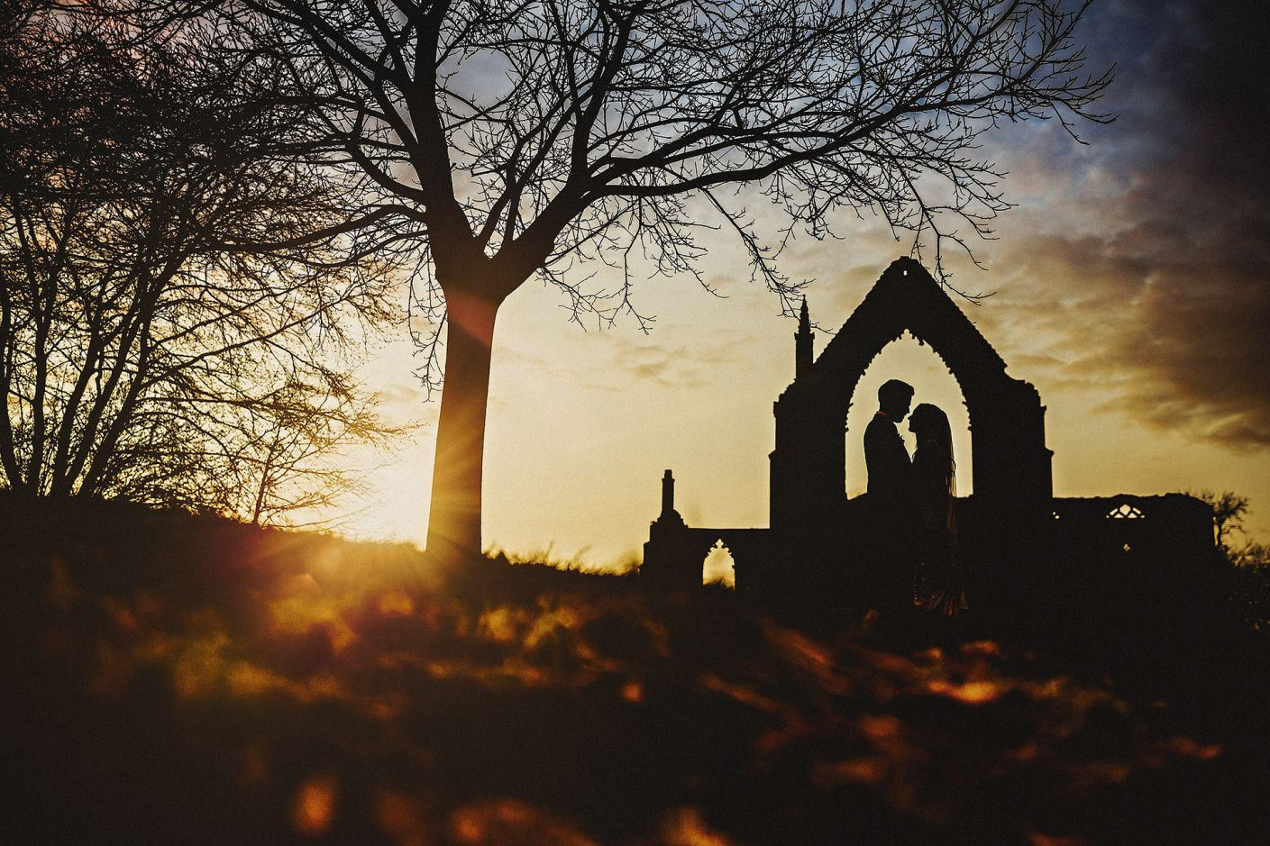 wedding portraits at bolton abbey in north yorkshire