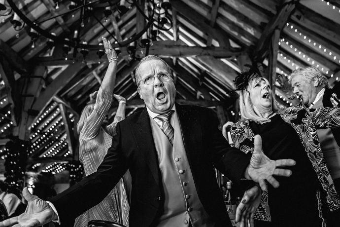 wedding guest singing