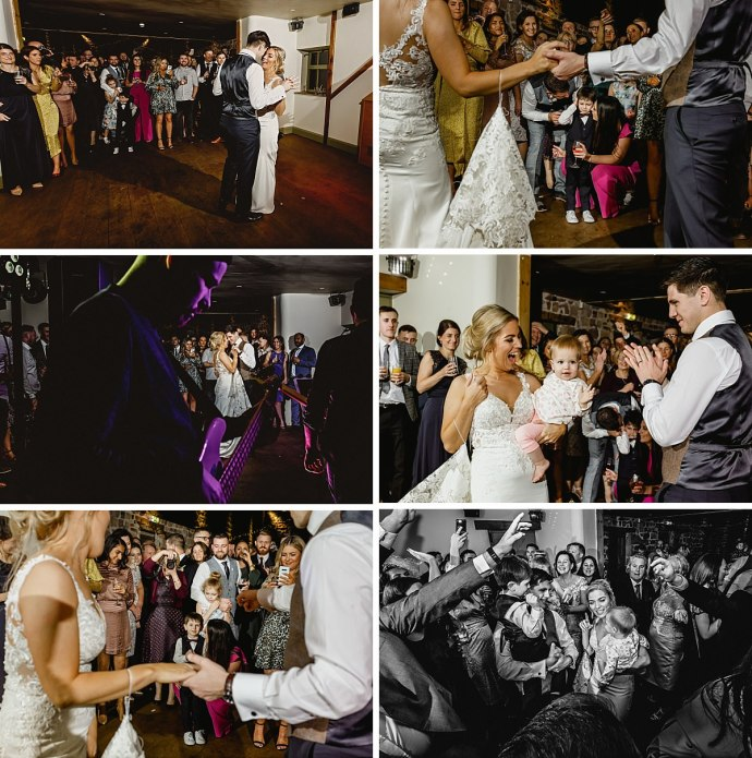 evening reception, wedding band, dancing