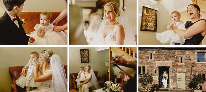 ashes barns wedding, bride, bridesmaids