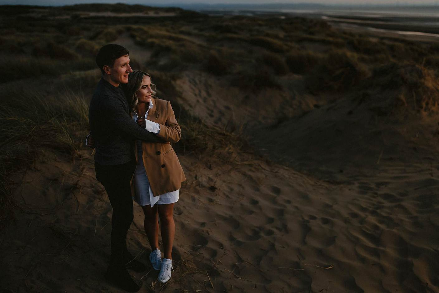 an engagement shoot in formby, liverpool