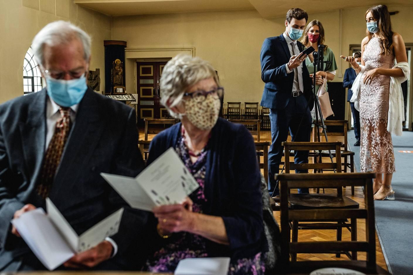 face mask wedding london