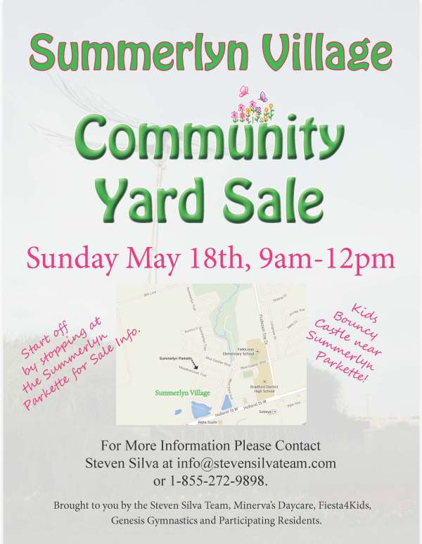 May 18, 2014 Summerlyn Yard Sale flyer (generic w map)