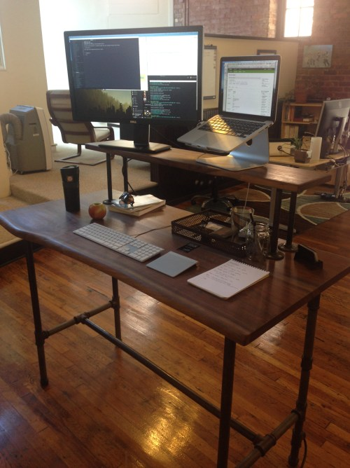 The desk as it shall be