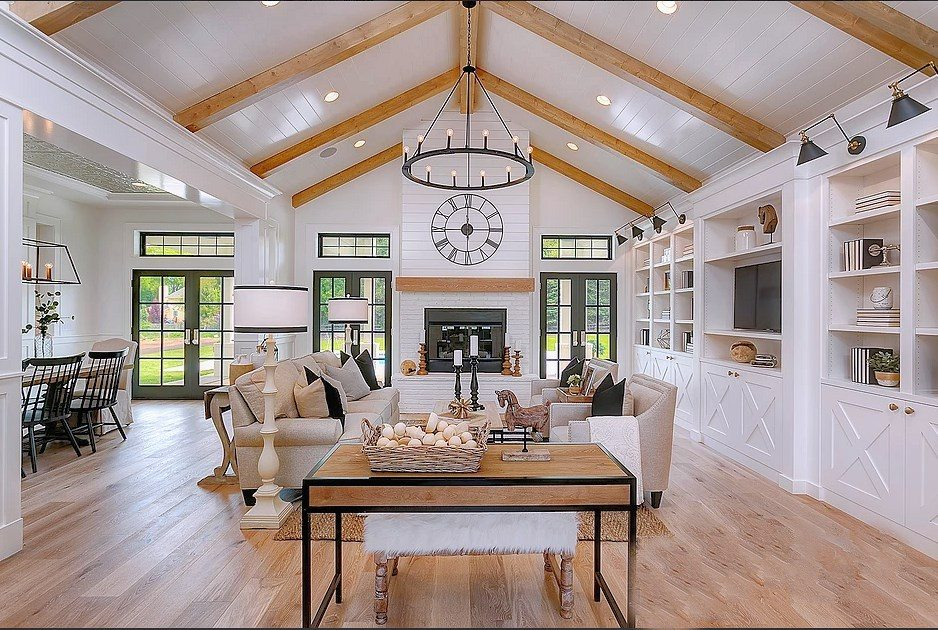 Dramatic Modern Farmhouse With Stunning White And Black