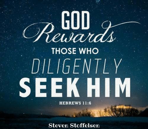 Rewards For Those Who Seek God