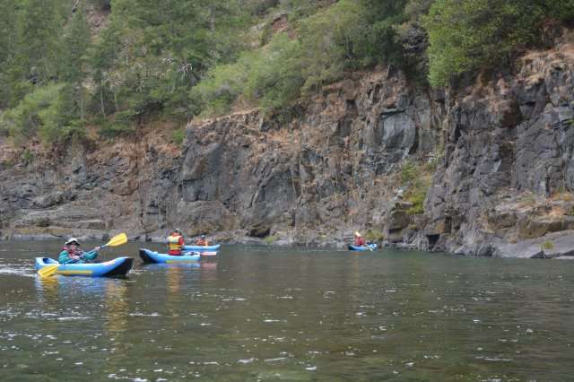 Kayaking on the wild and scenic Smith River, California