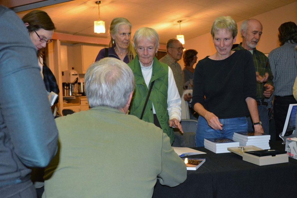 Author Steven T. Callan signing books at Wintu Audubon Society