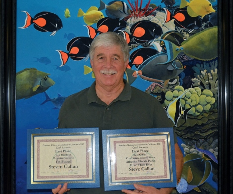 Steven T Callan receives the Best Outdoor Magazine Column award for 2015 from the Outdoor Writers Association of California