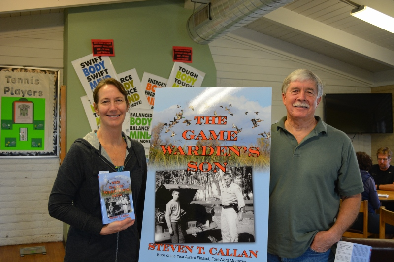 Author Steven T. Callan and Friend at Sun Oaks Book Signing for The Game Warden's Son