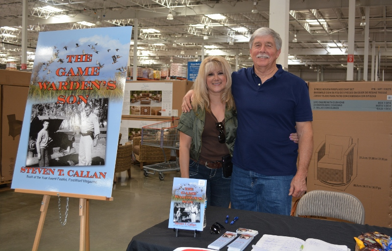 Author Steven T. Callan and Friend at the Chico Costco Book Signing for The Game Warden's Son