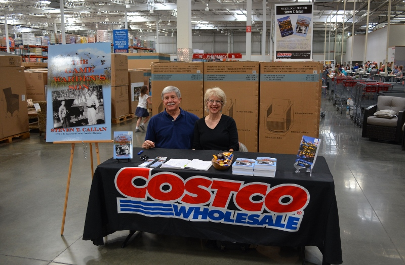 Author Steven T. Callan and His Wife, Kathy, at the Chico Costco Book Signing for The Game Warden's Son