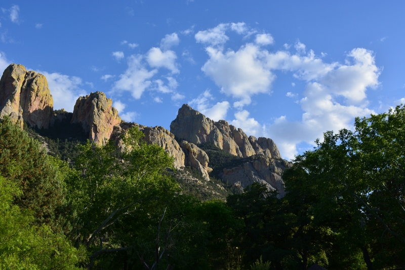 View of Chiricahua Mountains from Cave Creek Ranch. Photo by Steven T. Callan.
