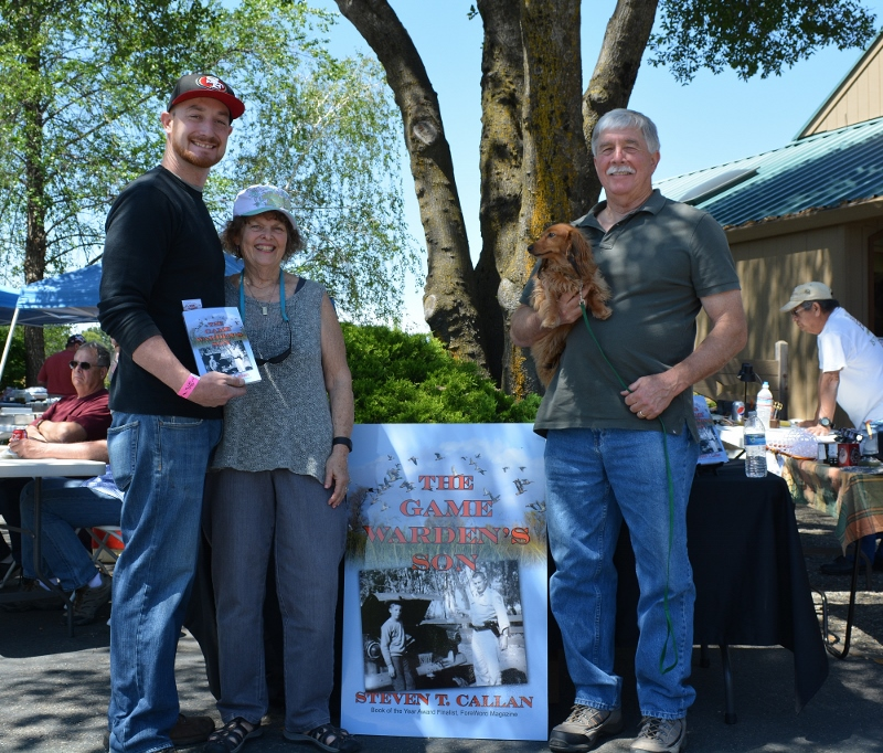 Author Steven T. Callan and friends at The Fly Shop book signing for his new book, THE GAME WARDEN'S SON