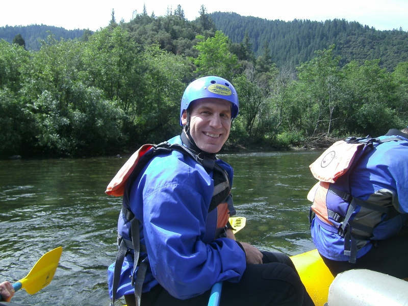 John DeGrazio rafting the American River. Photo by author Steven T. Callan.
