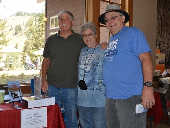Author Steven T. Callan and Friends at Book Signing during Art and Wine Festival at Lassen Volcanic National Park