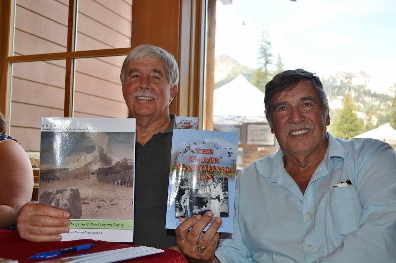 Authors Steven T. Callan and Alan Willendrup at Book Signing during Art and Wine Festival at Lassen Volcanic National Park