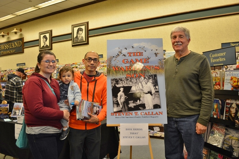 Author Steven T. Callan and friends at Callan's Chico Barnes and Noble Book Signing for The Game Warden's Son
