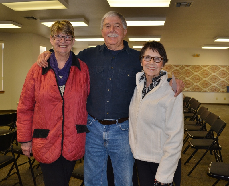 Author Steven T. Callan with, from left to right, Jennifer Levens and Sharon Owen of Redding Writers Forum during Steve's visit to discuss his book The Game Warden's Son.