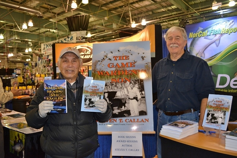 Author Steven T. Callan and friend at the book signing for The Game Warden's Son at the International Sportsmen's Expo