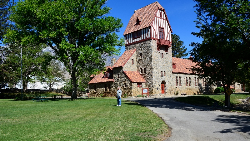 Mount Whitney Fish Hatchery, near Independence, always reminded me of a medieval castle. Photo by Kathy Callan.