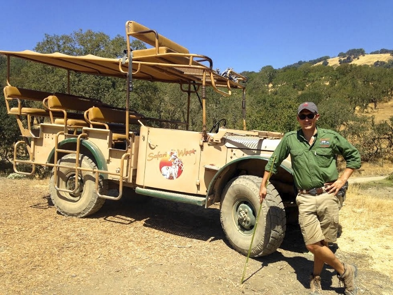 Our talented guide from Safari West, Alex Coburn. Photo courtesy of Alex Coburn.