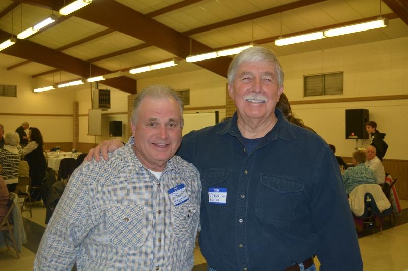 Author Steven T. Callan and Phil Heuchert at the Orland Alumni Association Awards Dinner.