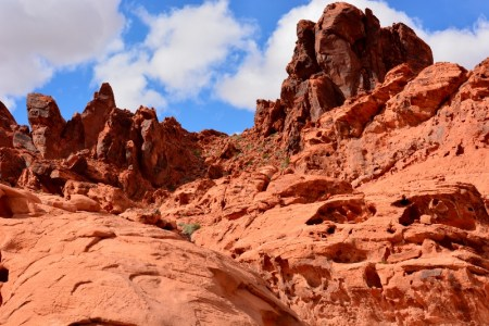 Sandstone rock formations in Valley of Fire State Park, Nevada. Photo by Author Steven T. Callan.