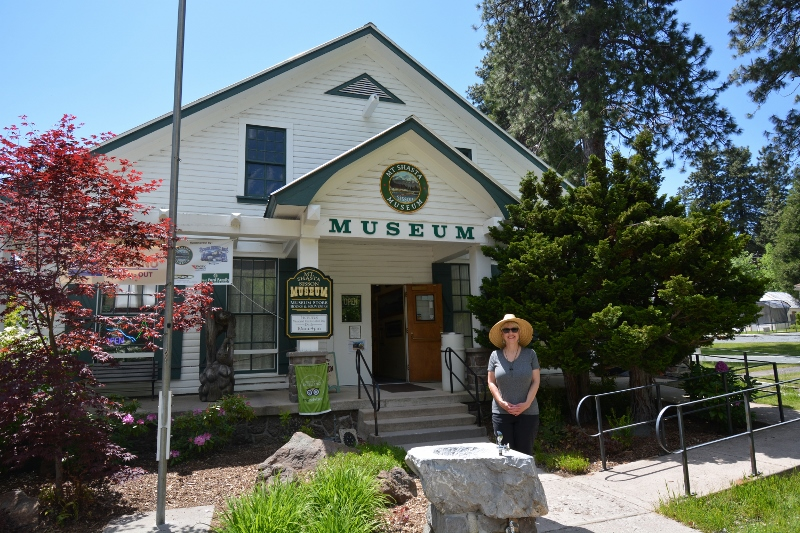 The Mt. Shasta Sisson Museum sits at the entrance to the Mount Shasta Fish Hatchery.