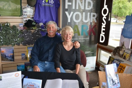 Author Steven T. Callan and Kathy Callan make a stop, during Steve's 2016-2017 book tour, at Whiskeytown National Recreation Area