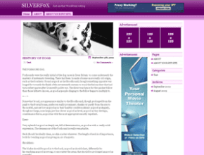 Purple Mind wordpress theme