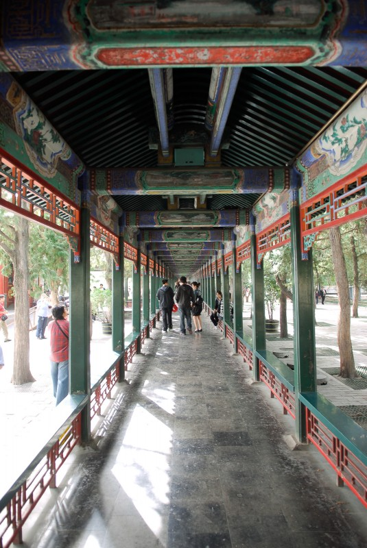 Looking down the Long Corridor in the Summer Palace.
