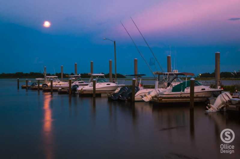 Super Moon over the Tides Marina