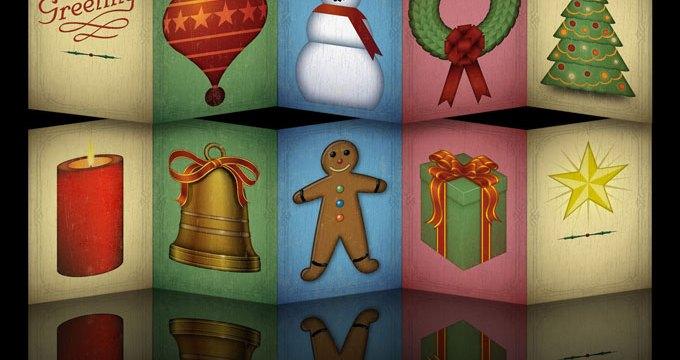 Accordion Christmas Card