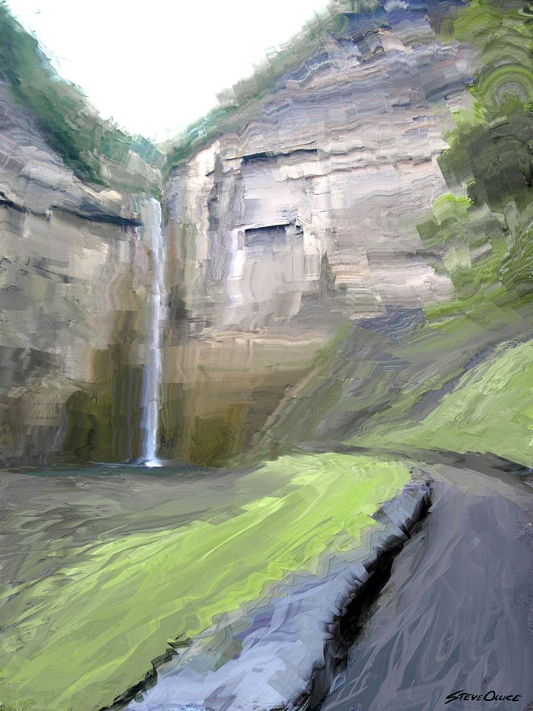Taughannock Falls Painting