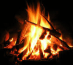 dim-and-flaring-campfire