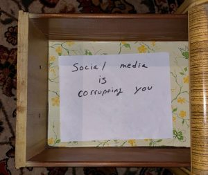 Social media is corrupting you