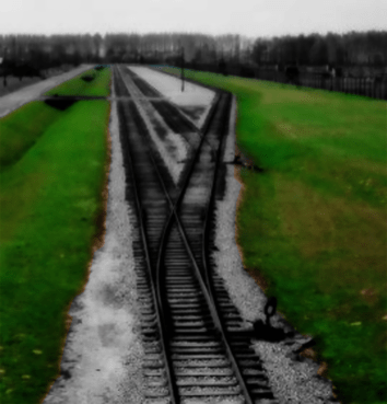 Photo of the Unloading Platform at Auschwitz II/Birkenau. Oswiecim, Poland. 18-Apr-00.