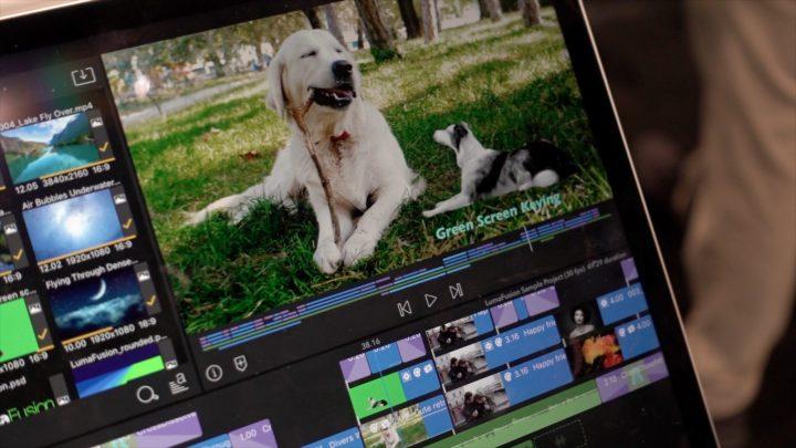 video editing with lumafusion