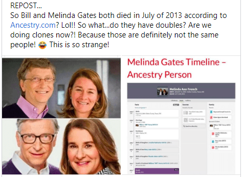 Arrests and executions of famous people 2020 Bill Gates and Melinda Gates are dead.