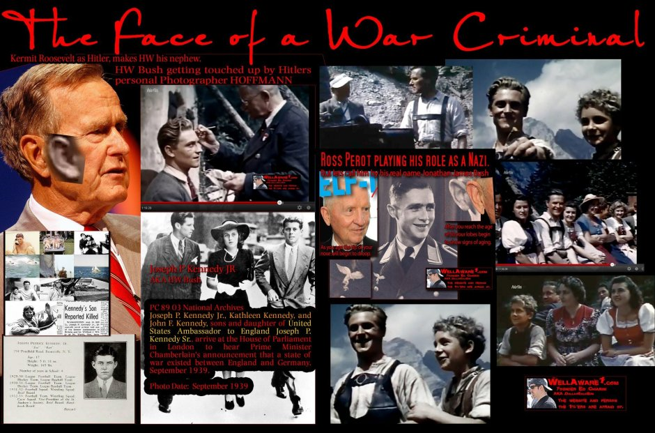 The Bush family has some of the largest war criminals and they are all related to the Roosevelt family.