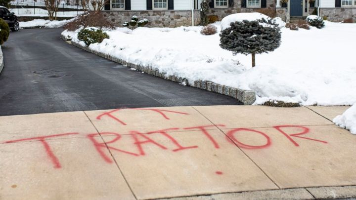 "Vandals targeted the home of Michael Van Der Veen, one of former President Donald Trump's impeachment lawyers, spray-painting the word ""TRAITOR"" in red on his driveway in suburban Philadelphia, police said."