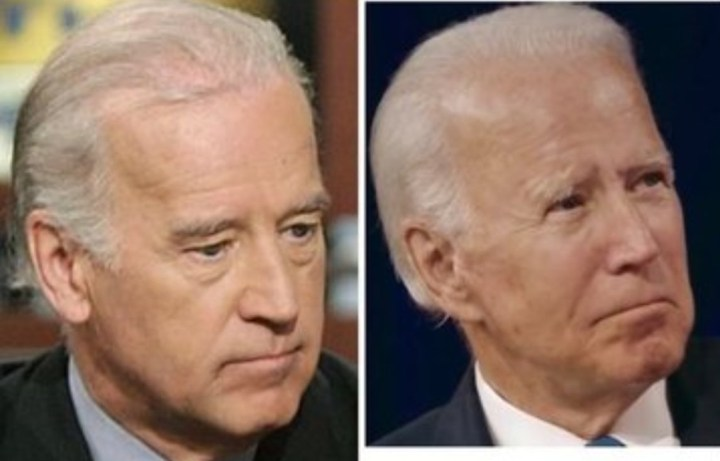 Biden clones with different ears. Biden is played by an actor or clone.