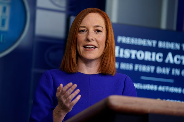 """""""The government is not now, nor will we be supporting a system that requires Americans to carry a credential. There will be no federal vaccinations database and no federal mandate requiring everyone to obtain a single vaccination credential,"""" White House press secretary Jen Psaki told reporters at the White House last week."""