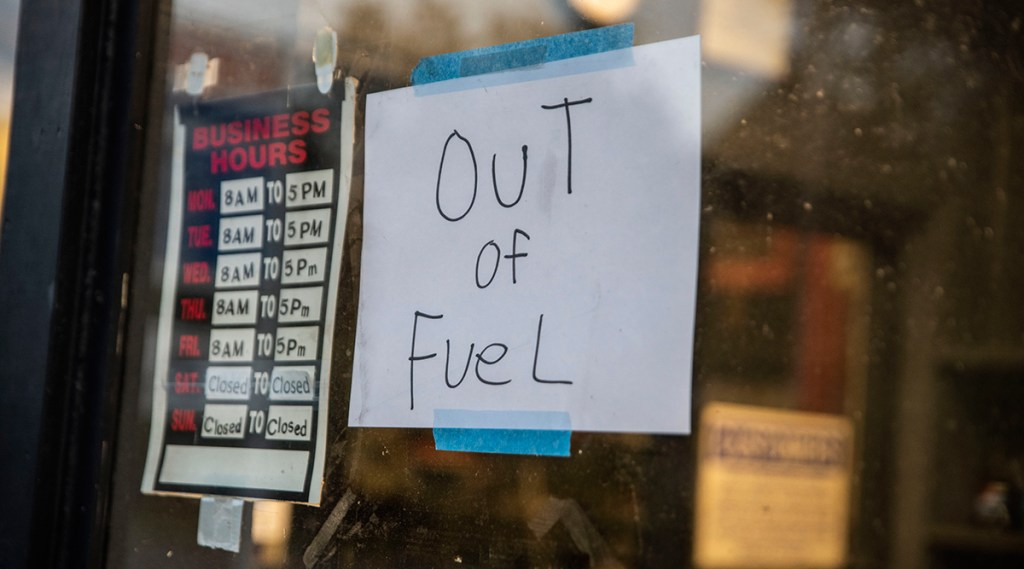 gas stations out of fuel 2021