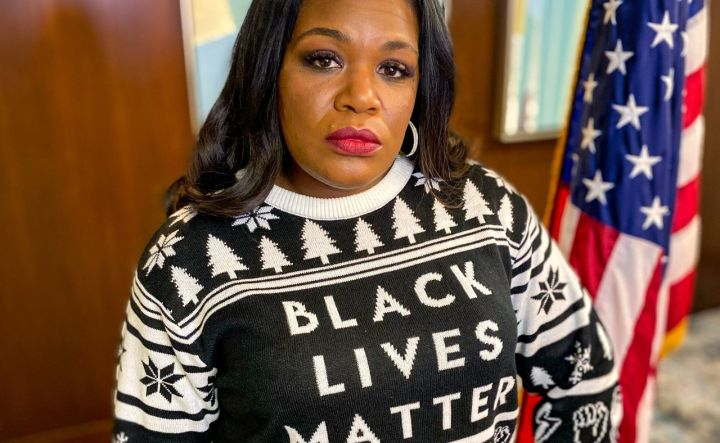 """LIBERAL Rep. Cori Bush has sparked outrage by dismissing Independence Day as a holiday for white people and claiming """"black people still aren't free."""""""