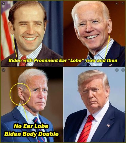 who is the actor playing biden? clones and look alikes in government have been used for a very long time.